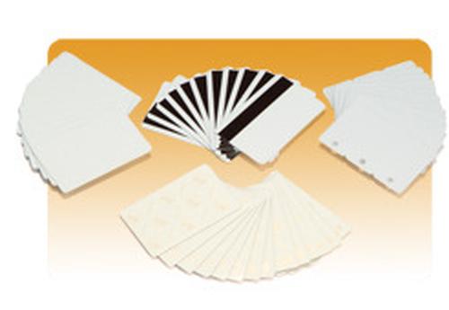 Zebra - Polyvinylchlorid (PVC) - 30 mil - weiß - CR-80 Card (85.6 x 54 mm) 500 Karte(n) Karten - für Zebra P110m