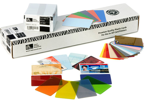 Zebra Premier - Polyvinylchlorid (PVC) - 50 mil - weiß - CR-80 Card (85.6 x 54 mm) 250 Karte(n) Karten