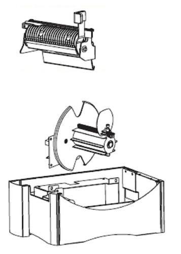 Zebra - Etikettenspende- und Rückspuloption für Drucker - für Zebra RZ600; Z Series ZM600