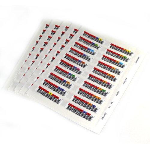 Quantum series 000001-000100 - Strichcodeetiketten (LTO-7) (Packung mit 100)