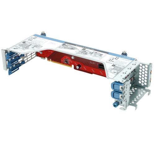HPE x16/x8 Riser Kit - Riser Card - 1st CPU - für ProLiant DL180 Gen10, DL180 Gen10 Base, DL180 Gen10 Entry, DL180 Gen10 SMB