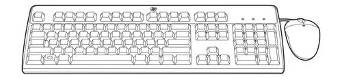 HPE BFR with PVC Free Kit - Tastatur-und-Maus-Set - USB - für ProLiant DL380 Gen9, MicroServer Gen10, ML350e Gen8, SL250s Gen8, XL220a Gen8, XL230a Gen9