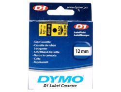 DYMO D1 - Selbstklebend - Schwarz auf Gelb - Rolle (1,2 cm x 7 m) 1 Rolle(n) Etikettenband - für LabelMANAGER 160, 210D, 210D Kit, 210D Kit Case, 280, 360D, 420P, 420P Kit, 500TS, PnP