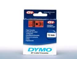 DYMO D1 - Entfernbarer Klebstoff - schwarz auf rot - Rolle (1,2 cm x 7 m) 1 Rolle(n) Etiketten - für LabelMANAGER 120P, 210D, 220P, 350D, 450D; LabelPOINT 250, 350