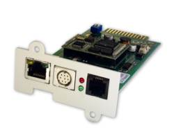 Online USV SNMP-Adapter - Fernverwaltungsadapter - 10Mb LAN, 100Mb LAN, RS-232 - 10Base-T, 100Base-TX - für XANTO RT 1000, 2000, 3000; XANTO S 10000, 15000, 20000; ZINTO A 1500, 2000, 3000