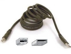 Belkin PRO Series - USB-Kabel - USB (M) bis USB Type B (M) - USB 2.0 - 1.8 m - geformt