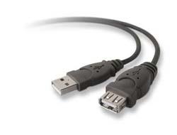 Belkin PRO Series - USB-Verlängerungskabel - USB (M) bis USB (W) - USB 2.0 - 3 m - geformt