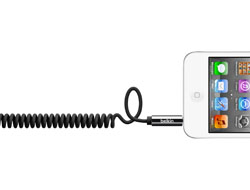 Belkin MIXIT Coiled Cable - Audiokabel - mini-phone stereo 3.5 mm (M) bis mini-phone stereo 3.5 mm (M) - 1.8 m - Schwarz