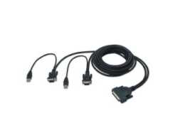 Belkin OmniView Dual Port Cable, USB - Tastatur- / Video- / Maus- (KVM-) Kabel - USB, HD-15 (M) bis DB-25 (M) - 3.7 m - geformt - B2B