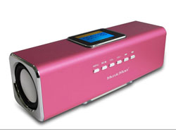 Technaxx MusicMan MA Display Soundstation - Digital Player - pink