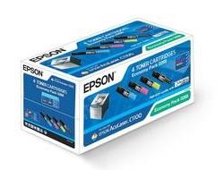 Epson Economy Pack - 4er-Pack - Schwarz, Gelb, Cyan, Magenta - Original - Tonerpatrone - für AcuLaser C1100, CX11