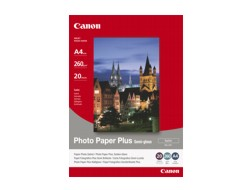 Canon Photo Paper Plus SG-201 - Fotopapier - semi-glossy - A4 (210 x 297 mm) - 260 g/m² - 20 Blatt