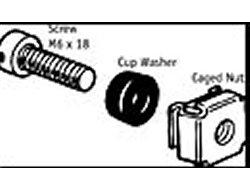 APC M6 Hardware Kit - Schrauben, Muttern und Unterlegscheiben für Rack - für P/N: AR3100, AR3150