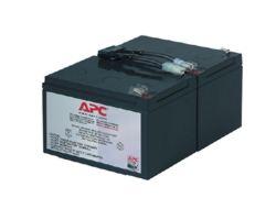 APC Replacement Battery Cartridge #6 - USV-Akku Bleisäure - Schwarz - für P/N: DLA1500J, SMC1500, SMC15000I, SMT1000, SMT1000I, SMT1000US, SU1000RMI, SUA1000ICH