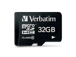 Verbatim - Flash-Speicherkarte - 32 GB - Class 10 - microSDHC