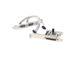 i-Tec - Adapter Parallel/Seriell - PCIe - parallel, Serial RS-232 - 2 Anschlüsse + 1 paralleler Port