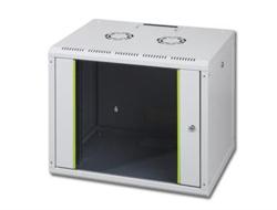 DIGITUS SoHoline DN-19 12-U - Mount cabinet - wall mountable - Grau, RAL 7035 - 12U - 48.3 cm (19