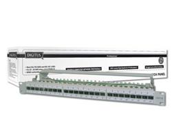 DIGITUS Professional DN-91624S-EA - Patch Panel - RJ-45 X 24 - Hellgrau, RAL 7035 - 1U - 48.3 cm ( 19