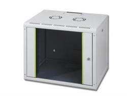 DIGITUS SoHoline DN-19 09-U - Mount cabinet - wall mountable - Grau, RAL 7035 - 9U - 48.3 cm (19
