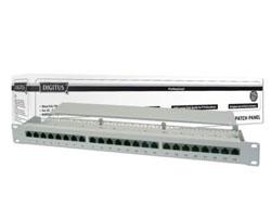 DIGITUS DN-91524S - Patch Panel - RJ-45 X 24 - Grau, RAL 7035 - 1U - 19