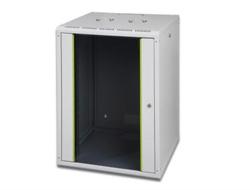 DIGITUS SoHoline DN-19 16-U - Mount cabinet - wall mountable - Grau, RAL 7035 - 16U - 48.3 cm (19
