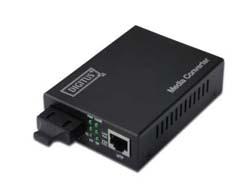 DIGITUS Professional DN-82121-1 - Medienkonverter - Ethernet, Fast Ethernet, Gigabit Ethernet - 10Base-T, 1000Base-LX, 100Base-TX, 1000Base-T - RJ-45 / SC Einzelmodus - bis zu 10 km