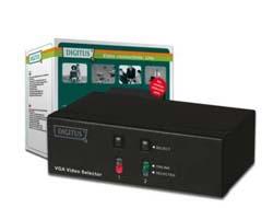 DIGITUS VGA Switch 2-Port 250MHz