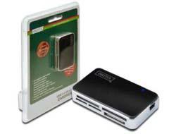 DIGITUS DA-70322-1 - Kartenleser - All-in-one ( MS, MS PRO, MMC, SD, xD, MS PRO Duo, miniSD, CF, RS-MMC, MMCmobile, microSD, MMCplus, MMCmicro, SDHC, MS Micro ) - USB 2.0
