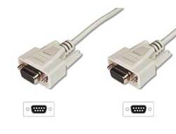 ASSMANN - Kabel seriell - DB-9 (W) bis DB-9 (W) - 5 m - geformt - beige