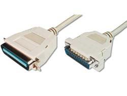 ASSMANN - Parallelkabel - DB-25 (M) bis Centronics 36-Polig  (M) - 1.8 m - beige
