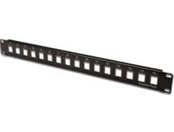 DIGITUS Professional DN-91400 - Patch Panel - Schwarz, RAL 9005 - 1U - 19
