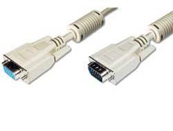 ASSMANN - VGA-Verlängerungskabel - HD-15 (W) bis HD-15 (M) - 5 m - geformt - beige