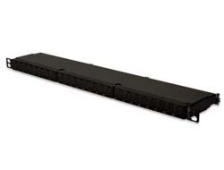 DIGITUS DN-91624S-SL-EA - Patch Panel - RJ-45 X 24 - Schwarz, RAL 9005 - 0.5U - 48.3 cm ( 19