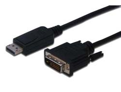 ASSMANN - DisplayPort-Kabel - DisplayPort (M) bis DVI-D (M) - 3 m - Schwarz