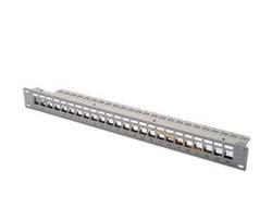 DIGITUS Professional DN-91410 - Patch Panel - RJ-45 X 24 - RAL 7035 - 1U - 19