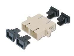 DIGITUS - Netzwerkkoppler - SC multi-mode (W) bis SC multi-mode (W) - Glasfaser - Grau