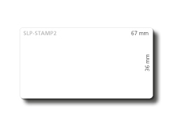 Seiko Instruments SLP-STAMP2 - Etiketten - 36 x 65 mm 620 Etikett(en) ( 2 Rolle(n) x 310 ) - für Smart Label Printer 440, 440 Office Administration Pack, 450