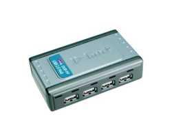 D-Link DUB H4 - Hub - 4 x USB 2.0 - Desktop