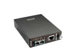D-Link DMC 810SC - Medienkonverter - Gigabit Ethernet - 1000Base-LX, 1000Base-T - RJ-45 / SC Einzelmodus - bis zu 10 km