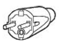 Cisco - Stromkabel - IEC 320 EN 60320 C15 (M) bis CEE 7/7 (SCHUKO) (M) - Wechselstrom 250 V - 2.5 m - Europa