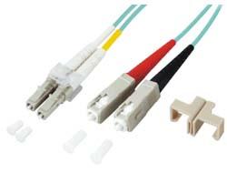 M-CAB - Patch-Kabel - LC Multi-Mode (M) bis SC multi-mode (M) - 1 m - Glasfaser - 50/125 Mikrometer