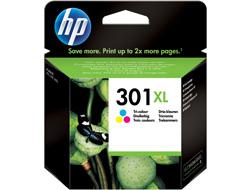 HP DeskJet 301XL - Tintenpatrone Original - 3-/4-Farb-Patrone, Cyan, Magenta, Yellow - 6 ml Druckerpatrone mit hoher Reichweite