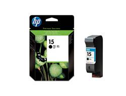 HP 15 - 25 ml - Schwarz - Original - Tintenpatrone - für Deskjet 38XX, 940; Digital Copier 310; Fax 1230; Officejet 5110, v40; psc 500, 750, 950
