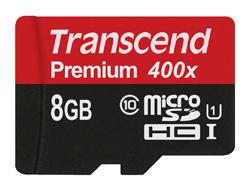 Transcend microSDHC Class 10 UHS-I (Premium) - Flash-Speicherkarte - 8 GB - UHS Class 1 / Class10 - microSDHC UHS-I