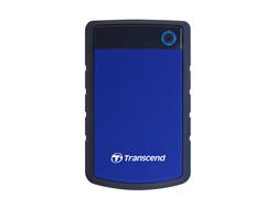 Transcend StoreJet 25H3B - Festplatte - 1 TB - extern (tragbar) - 6.4 cm (2.5