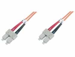 M-CAB - Netzwerkkabel - SC multi-mode (M) bis SC multi-mode (M) - 1 m - Glasfaser - 50/125 Mikrometer