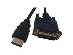 HDMI / DVI-D CABLE BLACK 2.0M