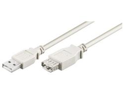 M-CAB - USB-Verlängerungskabel - USB (M) bis USB (W) - USB 2.0 - 5 m - Grau