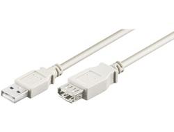 M-CAB - USB-Verlängerungskabel - USB (M) bis USB (W) - USB 2.0 - 3 m - Grau