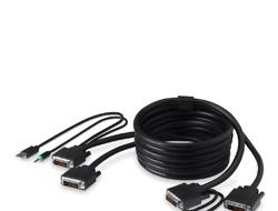 Belkin Secure KVM Cable Kit - Video- / USB- / Audio-Kabelsatz - USB, Mini-Phone Stereo 3,5 mm, DVI-D (M) bis Mini-Phone Stereo 3,5 mm, USB Type B, DVI-D (M) - 1.8 m - B2B